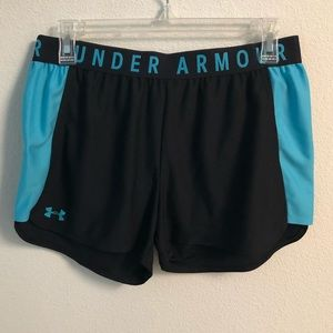 Black and Blue Under Armour Shorts